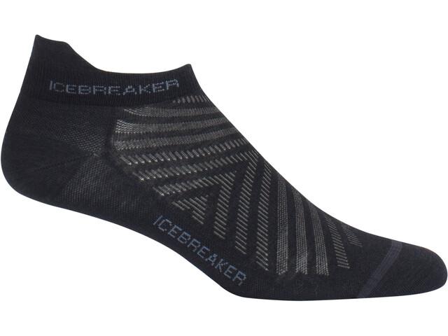 Icebreaker Run+ Ultra Light Micro Sokken Heren grijs/zwart